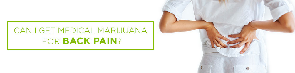 can i get medical marijuana for back pain