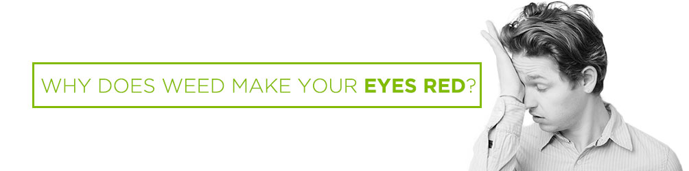 Why does weed turn your eyes red?